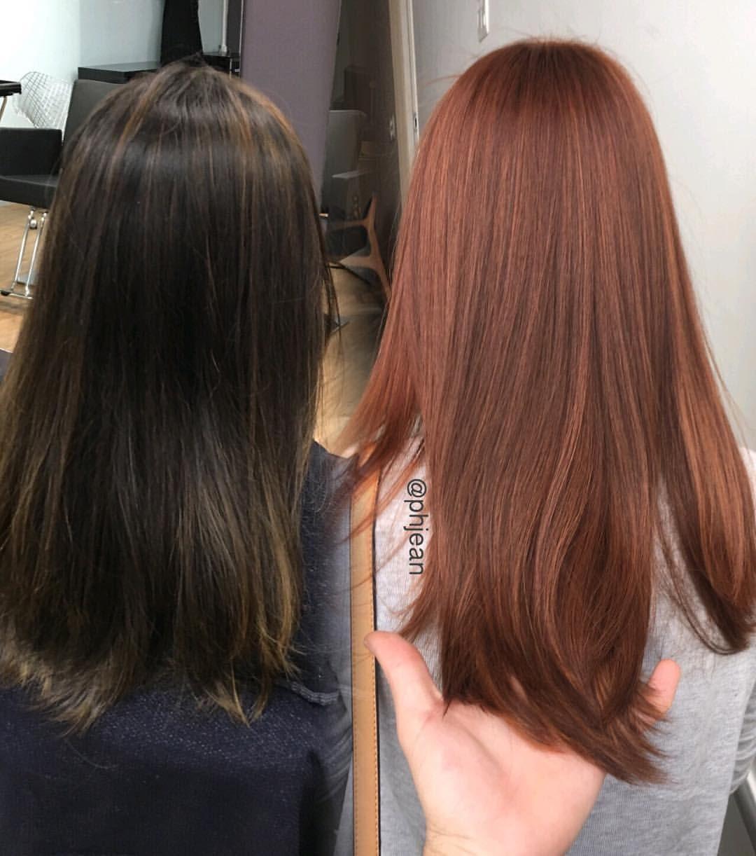 Hair, Dyed hair, Auburn hair, Beautiful hair color, Copper