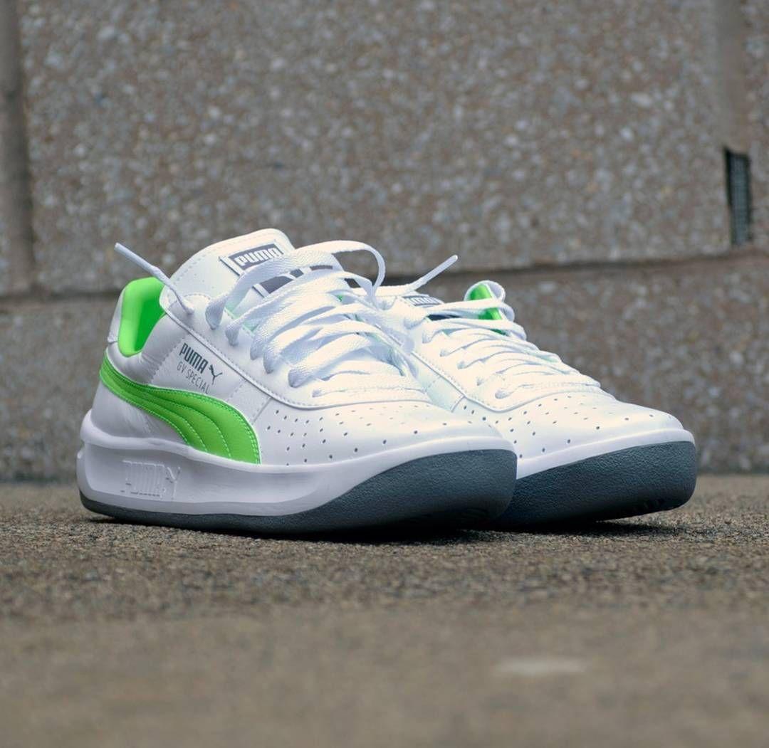 puma gv special white green
