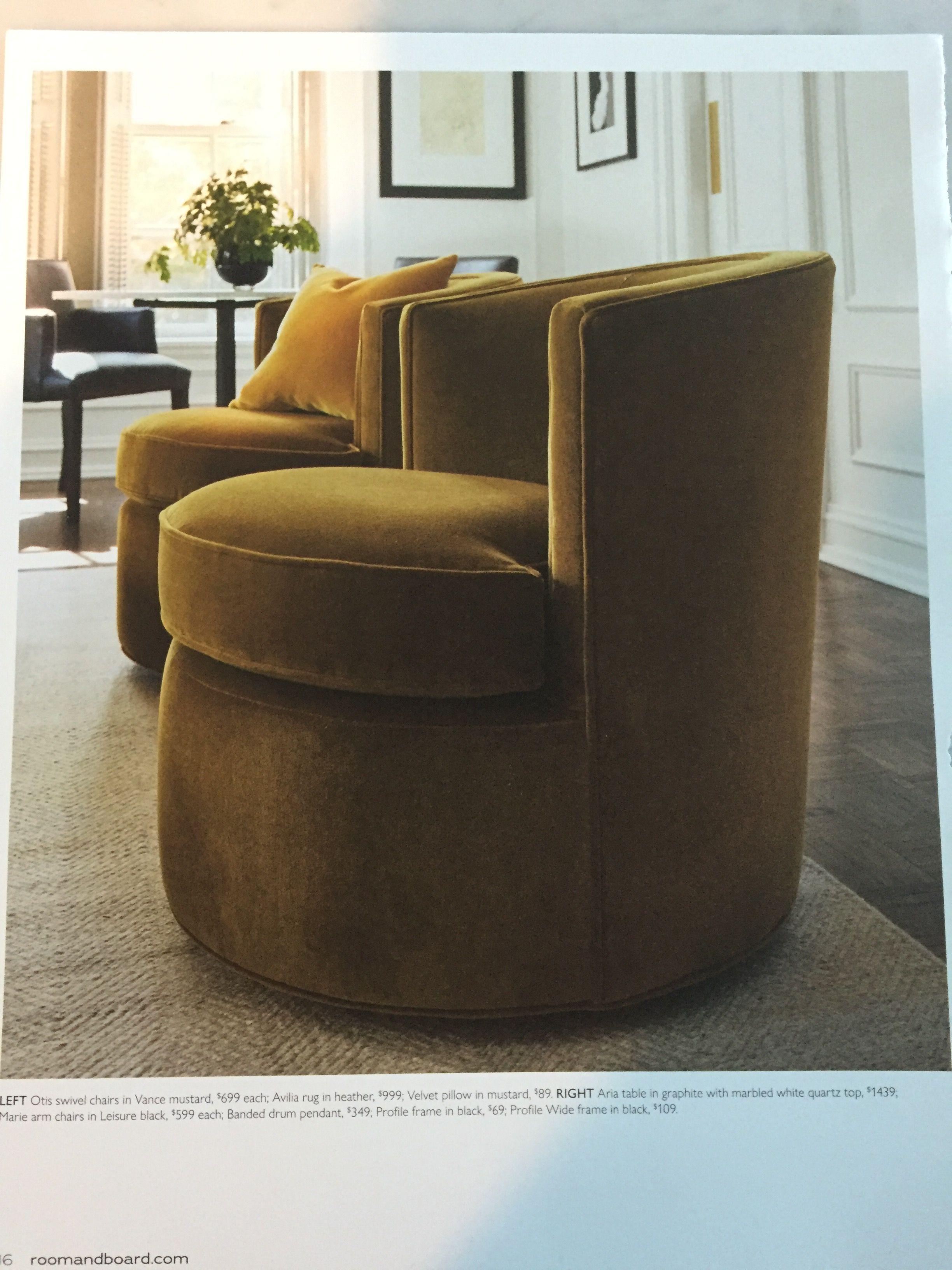 Room Board Otis Swivel Chairs 699 Each Swivel Chair Living Room Living Room Chairs Modern Furniture Living Room #round #swivel #chairs #for #living #room