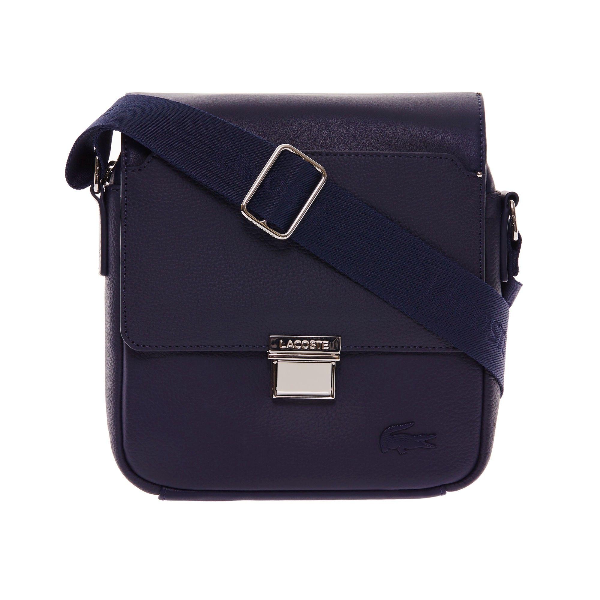 e5f6268b8 LACOSTE Men s Rafael Monochrome Leather Zip Crossover Bag - peacoat.   lacoste  bags  leather