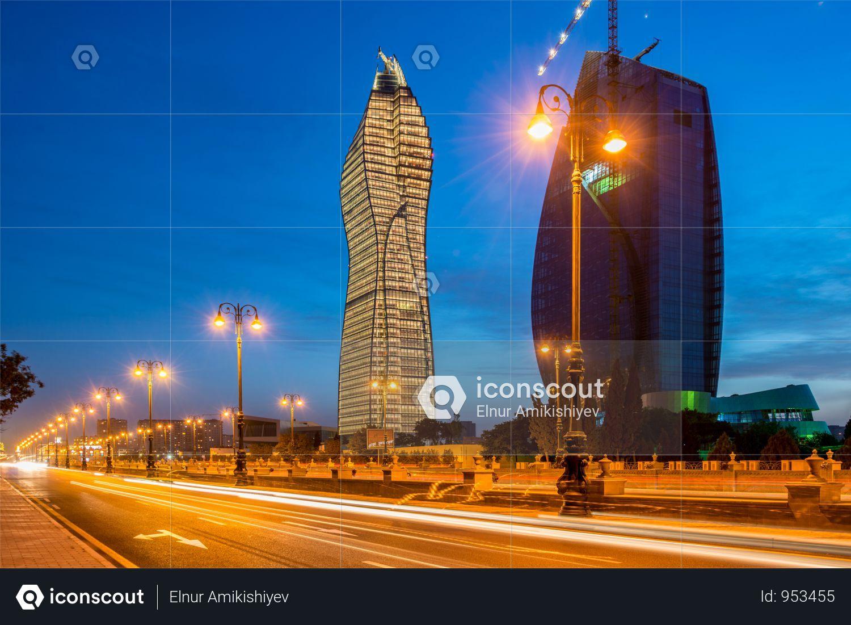 Premium Socar Hq In Baku Azerbaijan Photo Download In Png Jpg Format Photo Azerbaijan Baku