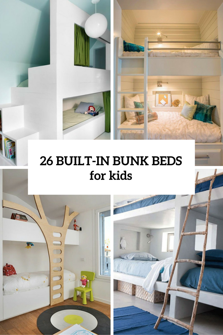 Best 26 Cool And Functional Built In Bunk Beds For Kids 400 x 300