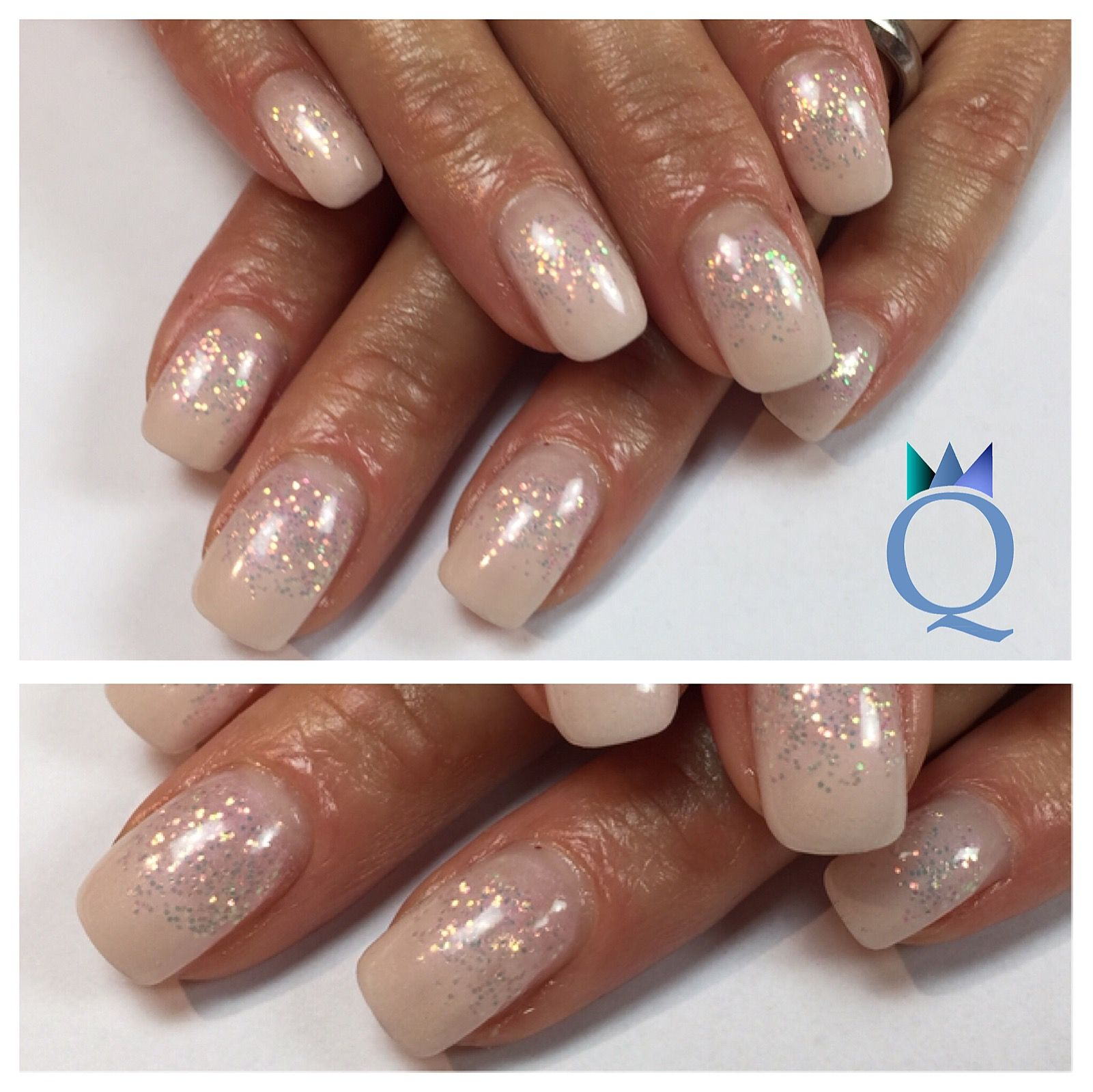 gelnails #nails #white #glitter #gelnägel #nägel #weiss #glitzer ...