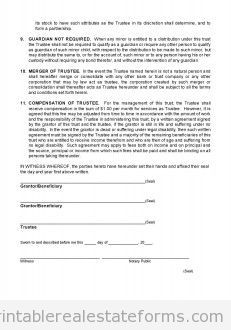 Home Purchase Agreement Form Free Free Closing 0040 Trust Agreement Printable Real Estate Forms  Free .