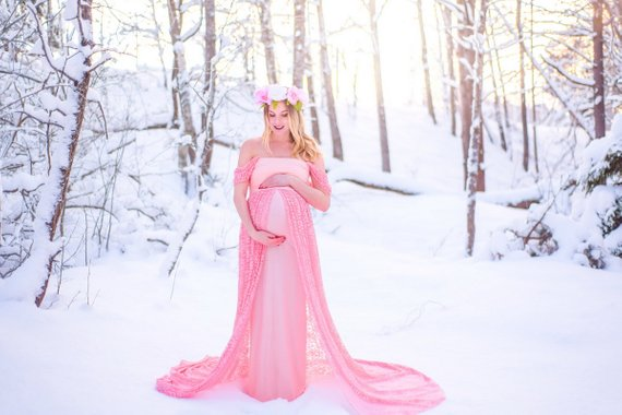 Long Maternity Dress Baby Shower Dress Maternity Gown Photo Shoot