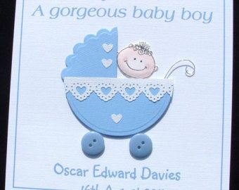 Related image cards pinterest card ideas creativity and cards personalised handmade new baby boy card congratulations a new baby boy card personalised card handmade card uk seller m4hsunfo Gallery