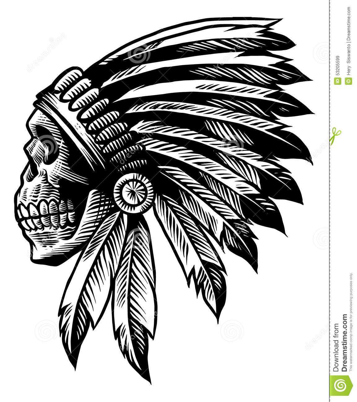 diseños de plumas indias - Buscar con Google | Skulls, calacas y ...