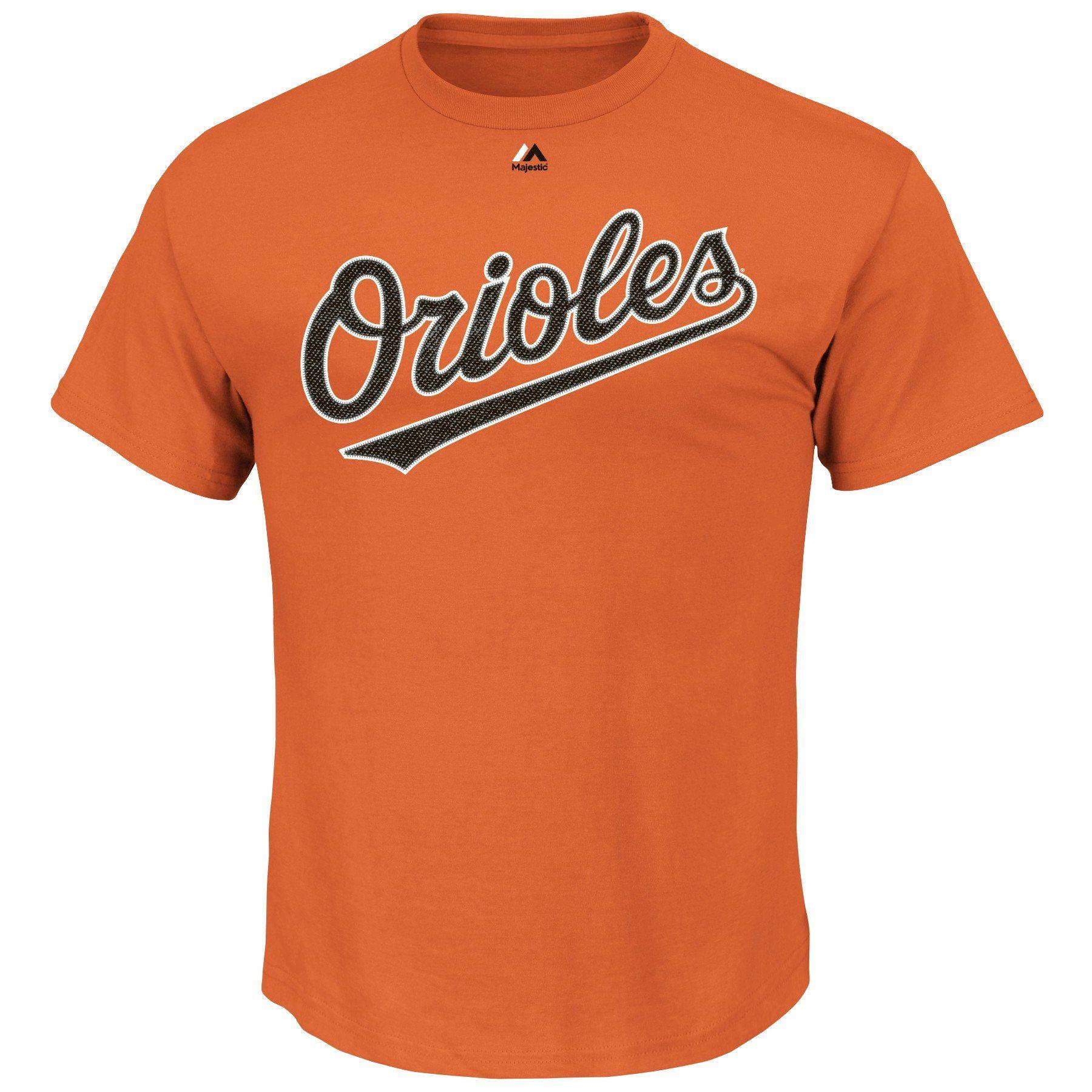c397d98da5f Adam Jones  10 Baltimore Orioles MLB Men s Name and Number T-Shirt Orange