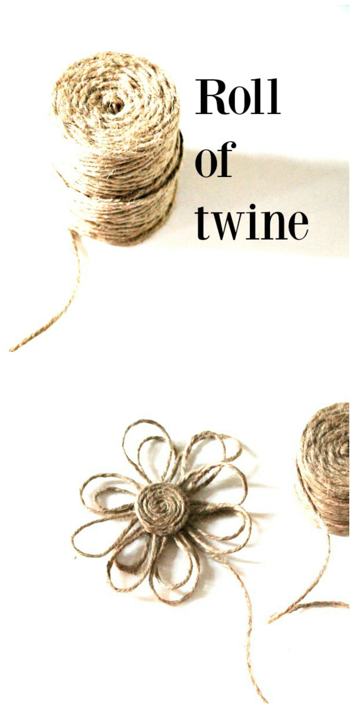 How to make a twine flower Bloggers Best DIY Ideas
