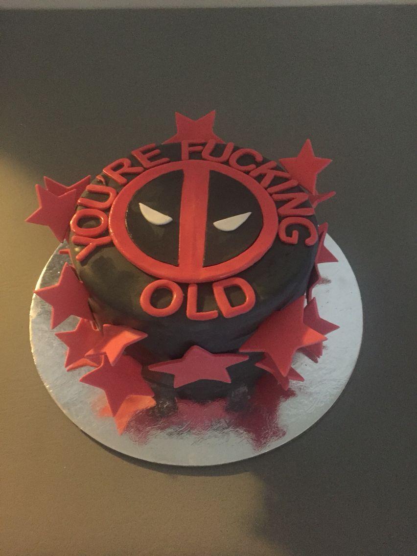 Sassy Deadpool Johns Cakes Birthday Cake Birthday