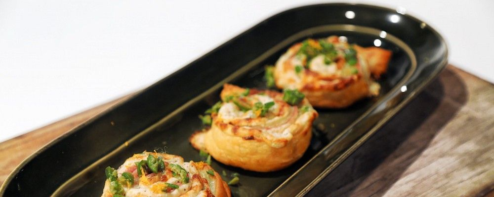 Ham and Cheese Puff Pastry Pinwheels Recipe by Carla Hall - The Chew