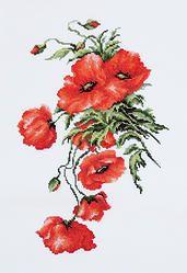 B2236 Poppies €16.00  Kit completo de punto de cruz Marca: Luca-S Hilos: Anchor Tela Aida: Zweigart Medidas: 20*31,5cm Colores: 18