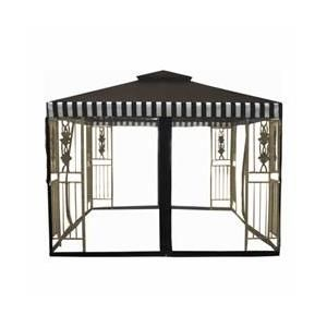 Dc America 10 X 10 2 Tier Gazebo Desert Stone Frame Dark Brown Beige Cabana Top With Grommets Walmart Com Gazebo Home Building Design Gazebo Pergola