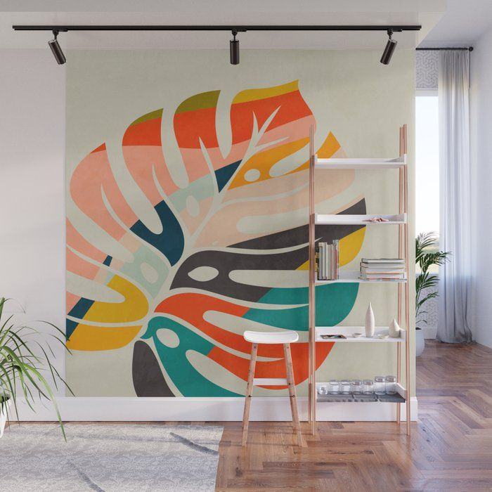 Shape Leave Modern Mid Century Wall Mural by Ana R