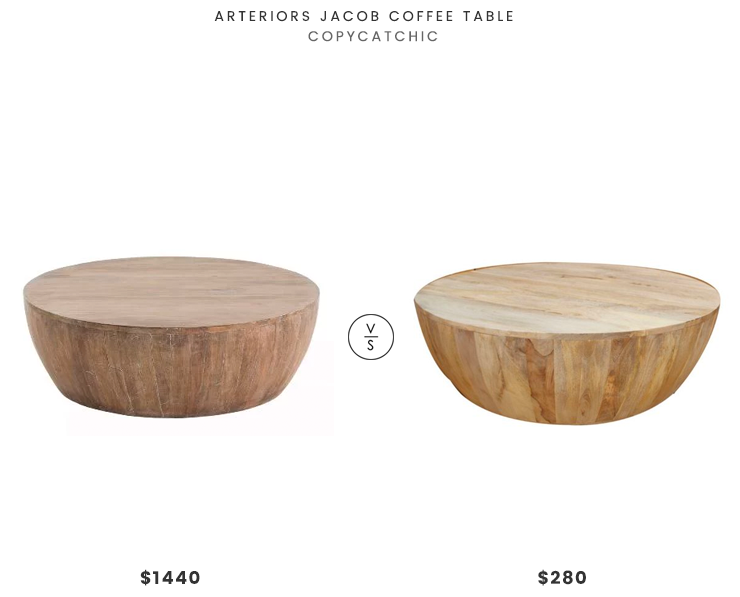 Daily Find Drum Coffee Table Coffee Table Round Wood Coffee Table