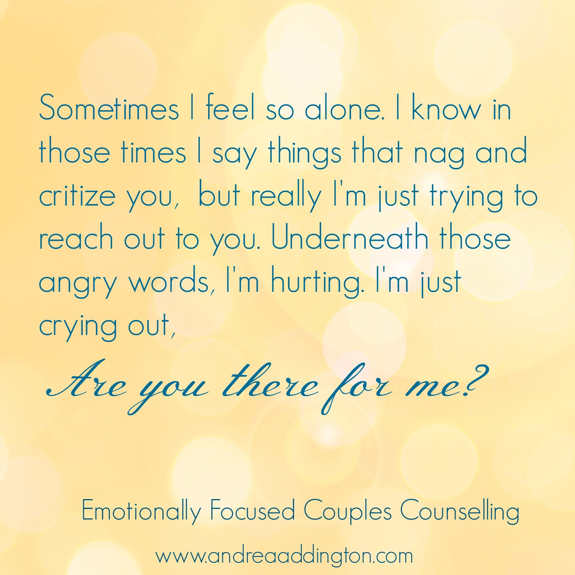 Emotionally Focused Couples Counselling