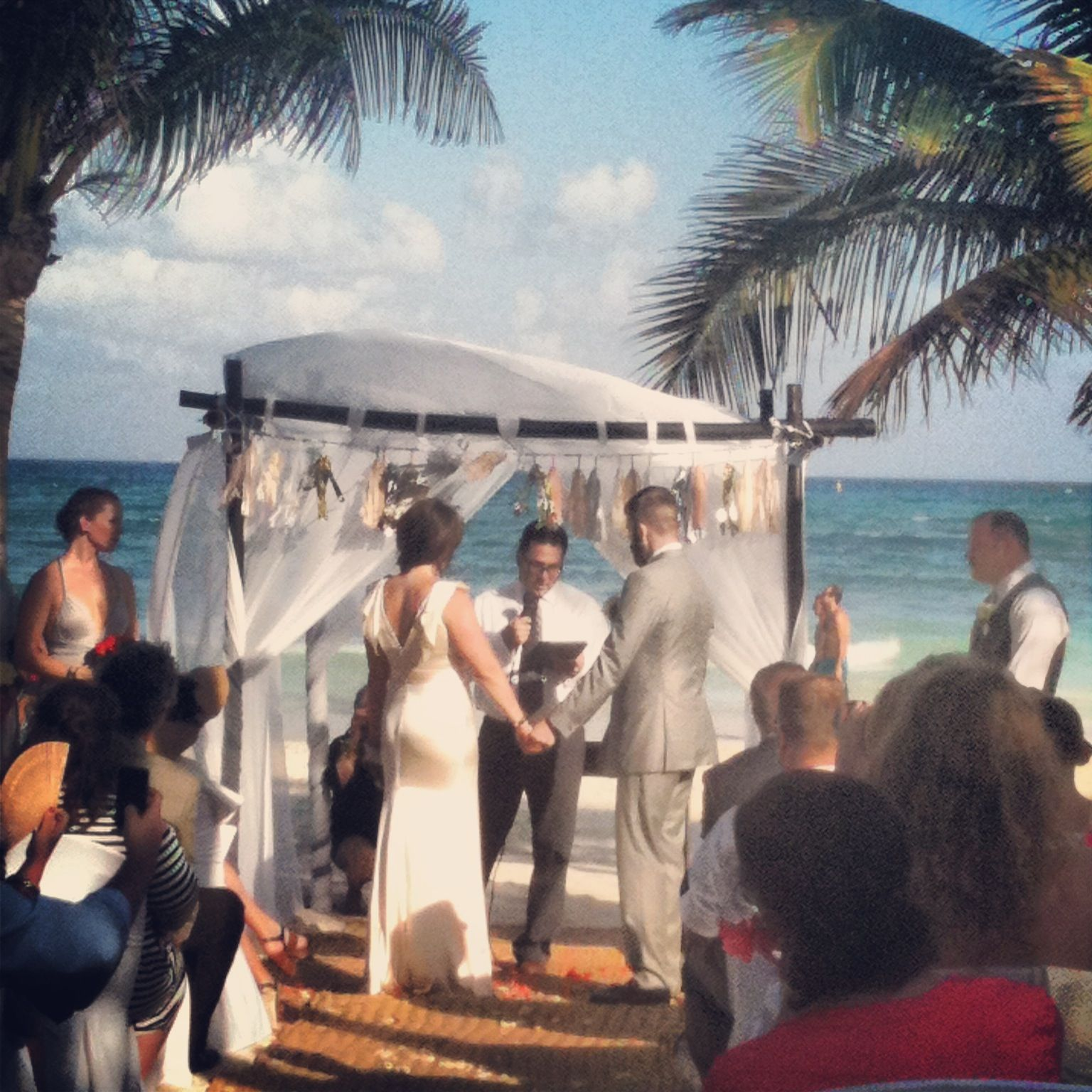 Beach Wedding! Playa Del Carmen, Mexico Mahekal Beach Resort
