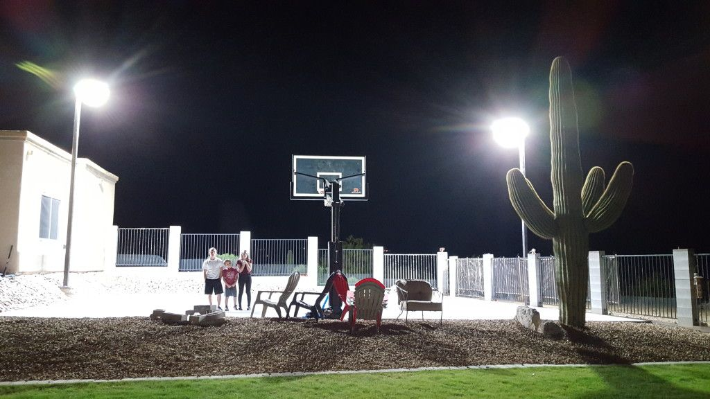 A Homeowner Outside Phoenix Az Required Dark Sky Compliant Led Basketball Court Lighting Solution For The Half In His Backyard