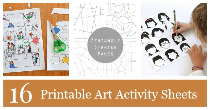 16 printable art activities for kids to encourage creativity