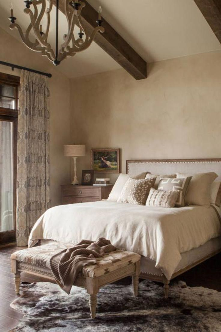 Southwest ranch style master bedroom, a rustic country ...