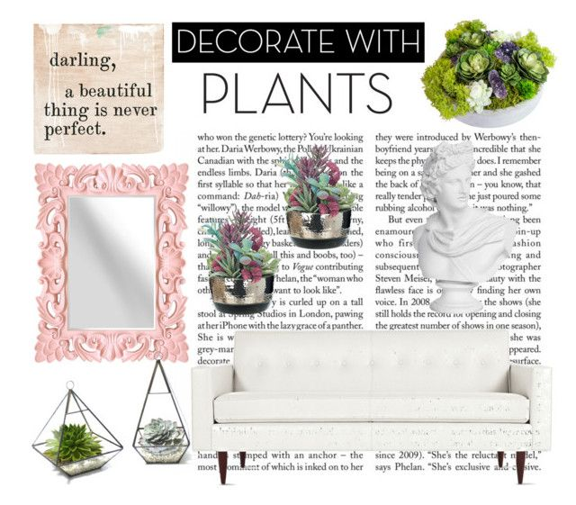 """""""Decorate With Plants"""" by savannahcriado ❤ liked on Polyvore featuring interior, interiors, interior design, home, home decor, interior decorating, Design Within Reach, plants and planters"""