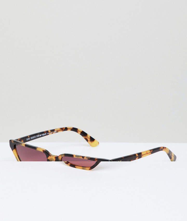 d30b7b5f98 Vogue Eyewear cat eye sunglasses by gigi hadid in tort   pink lens ...