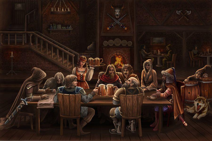 The tavern by Araniart on deviantART | Fantasy city, Tavern, Fantasy castle