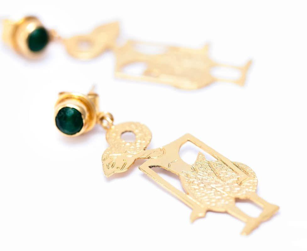 Our beautiful Wayang Arjuna Gold Dipped Earrings, 18 Carats