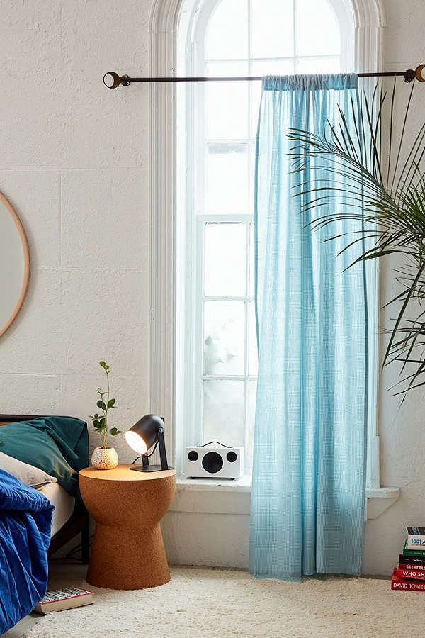 Mid-Century Modern Wood Curtain Rod | Home decor, Curtains ...
