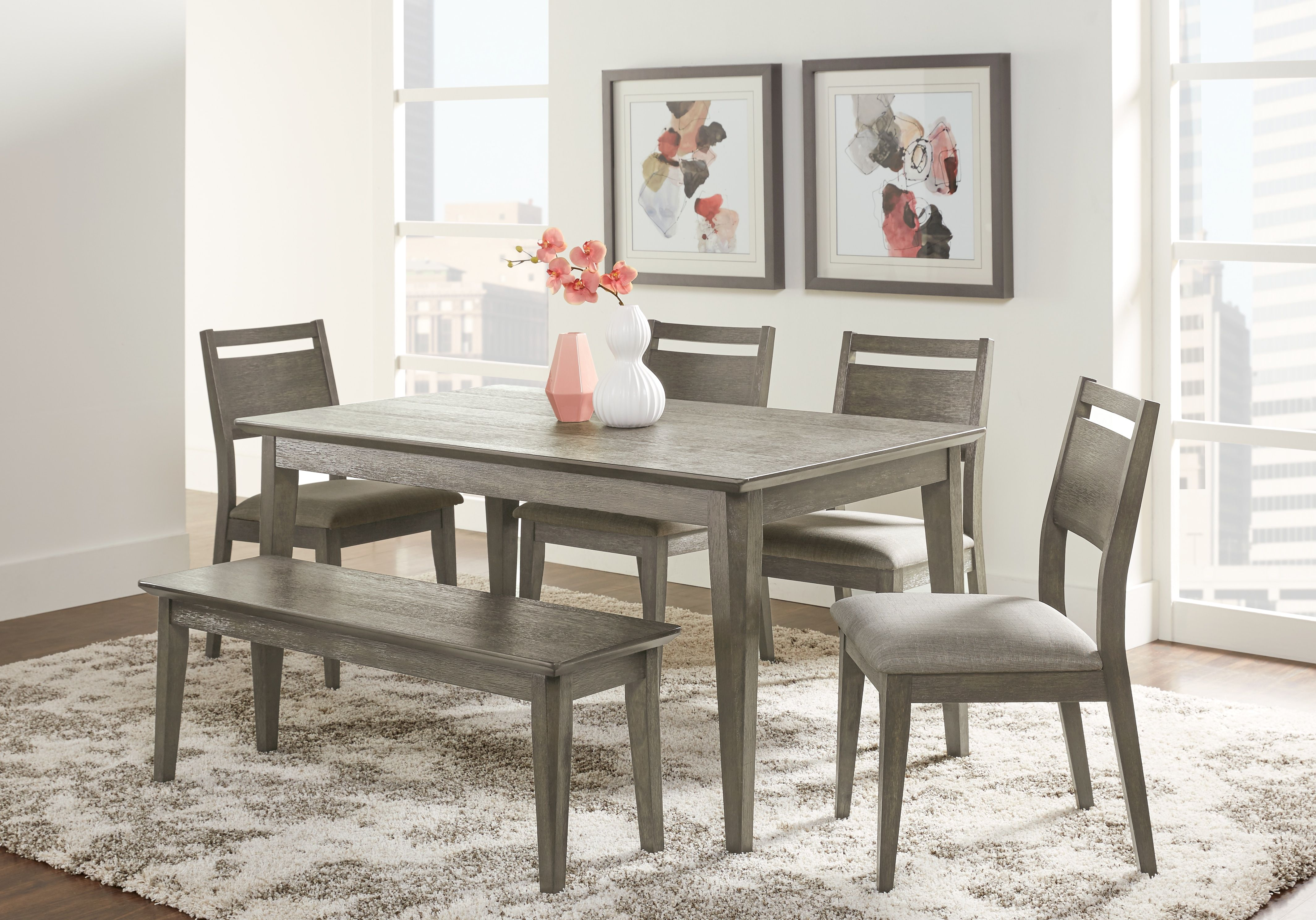 Market Street Gray 4 Pc Rectangle Dining Set Rectangle Dining