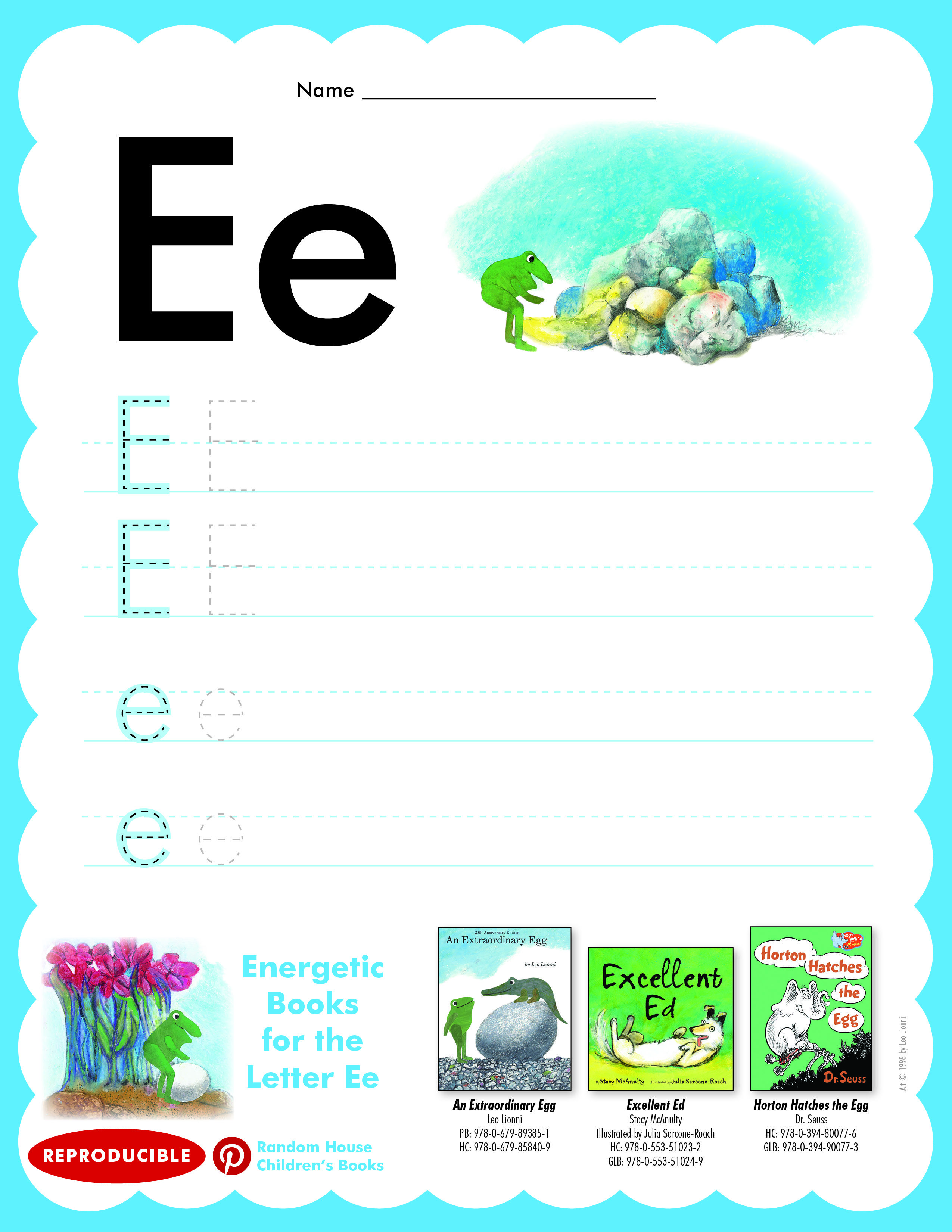Have Students Practice Writing Letter Ee Then Read An