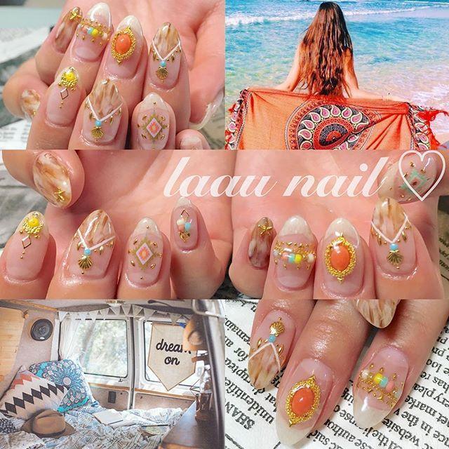 laau nailがつくるネイルはエスニックな大人ボヘミアンネイルがとっても豊富でどれ