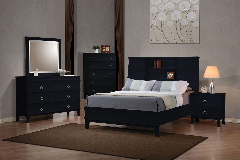 Sandberg Furniture Granada Two Nightstand Bedroom Set (Queen), Black |  Nightstands, Bedrooms And King Beds