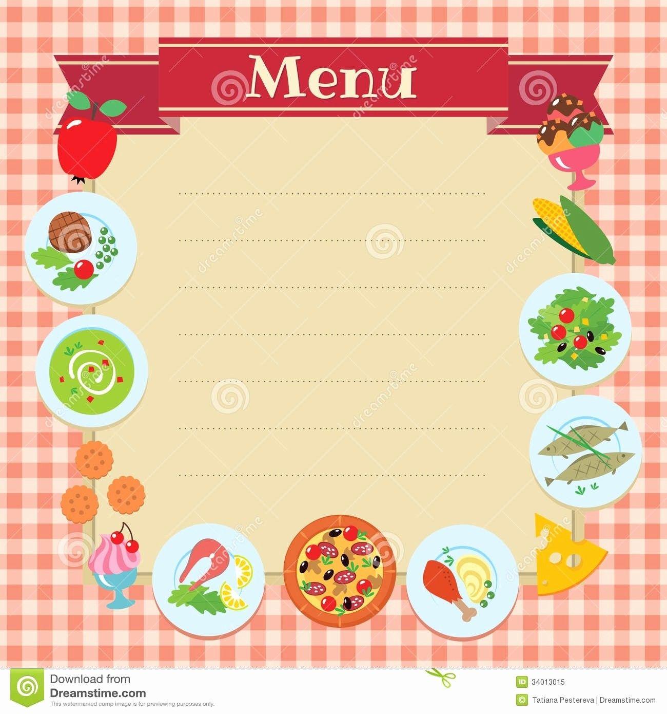 Blank Restaurant Menu Template in 2020 Restaurant menu
