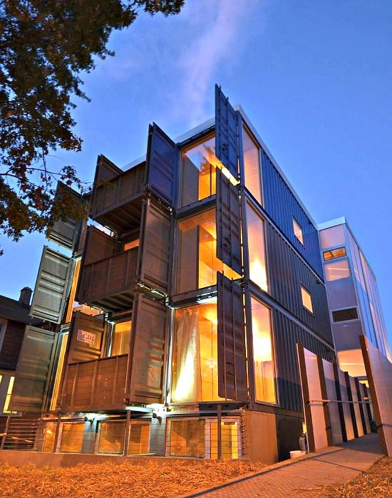 Four Unit Shipping Container Apartment Complex, By Travis Price,  Washington, D.C.