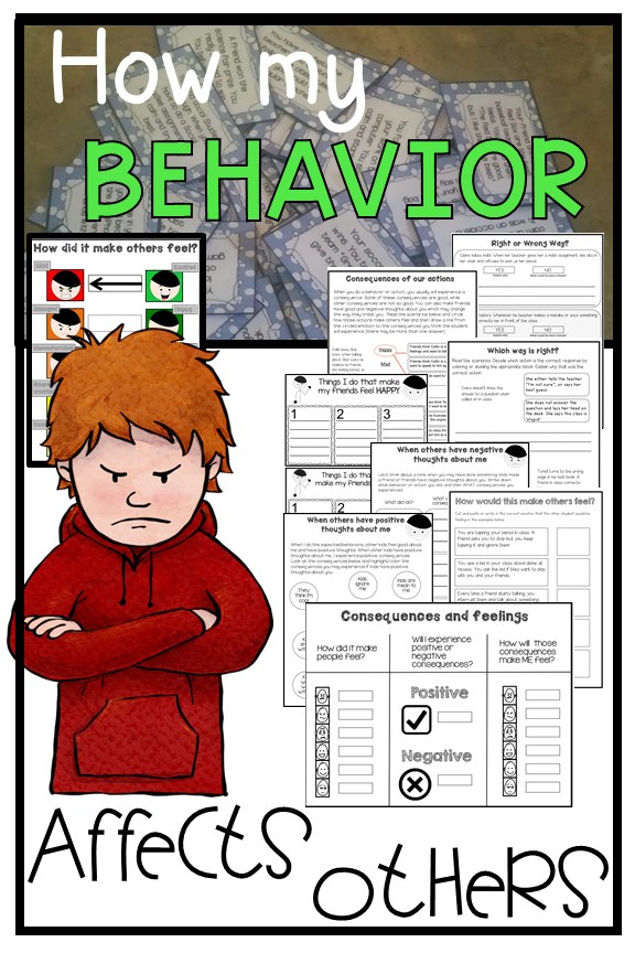 Behavior & social consequences. How my behavior affects others Autism, social skills, pragmatics. #emotionalcontrol