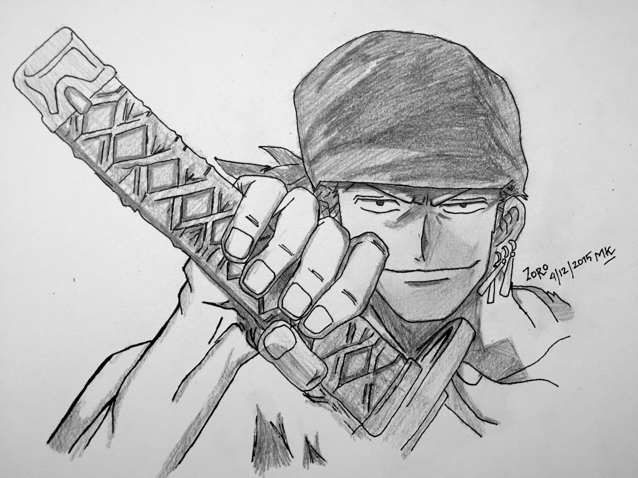 One Piece Zoro Anime Onepiece Drawing Drawings Art Anime