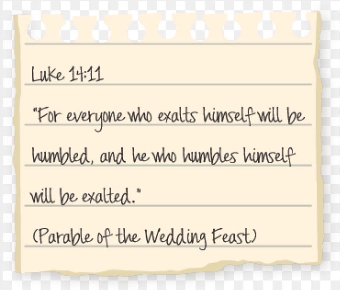 Do you think more of yourself than you should? #humble #humility #exalted #Luke #bible