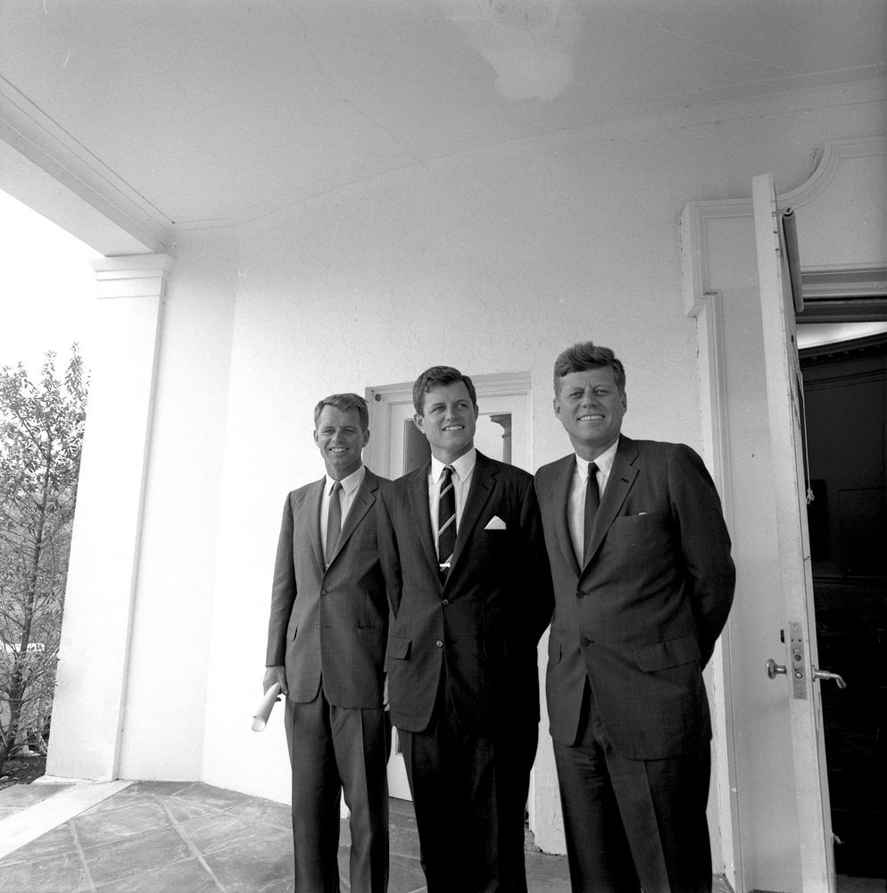 john f kennedy oval office. Brothers Robert Kennedy, Edward \u201cTed\u201d And John F. Kennedy Outside The Oval Office. F Office T