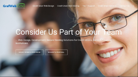 Grafwebcuso credit union website design Credit union