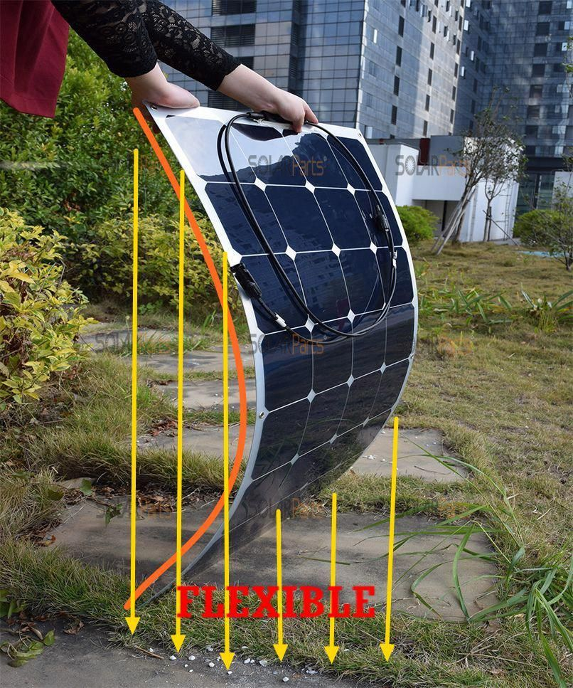 100W semi flexible rollable solar panels solar modules