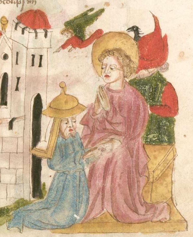 Weltchronik. Sibyllenweissagung. Antichrist BSB Cgm 426, Bayern, 3. Viertel 15. Jh  Folio 113