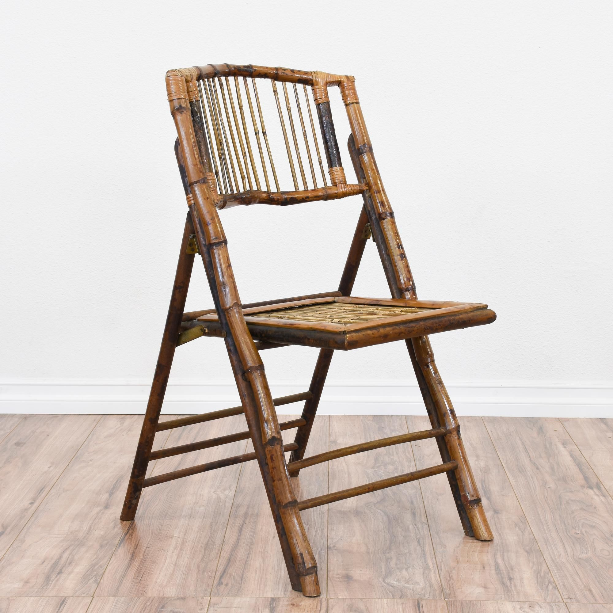 Tropical Bamboo Folding Chair