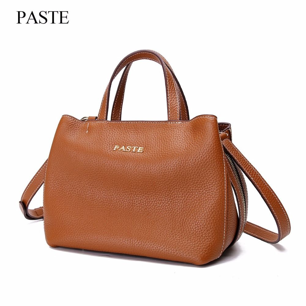 dbf4fe11ce3d Genuine Leather Handbags Famous Brand Women Bags Fashion Casual Handbags  High Capacity Shouder Bags Vintage Women