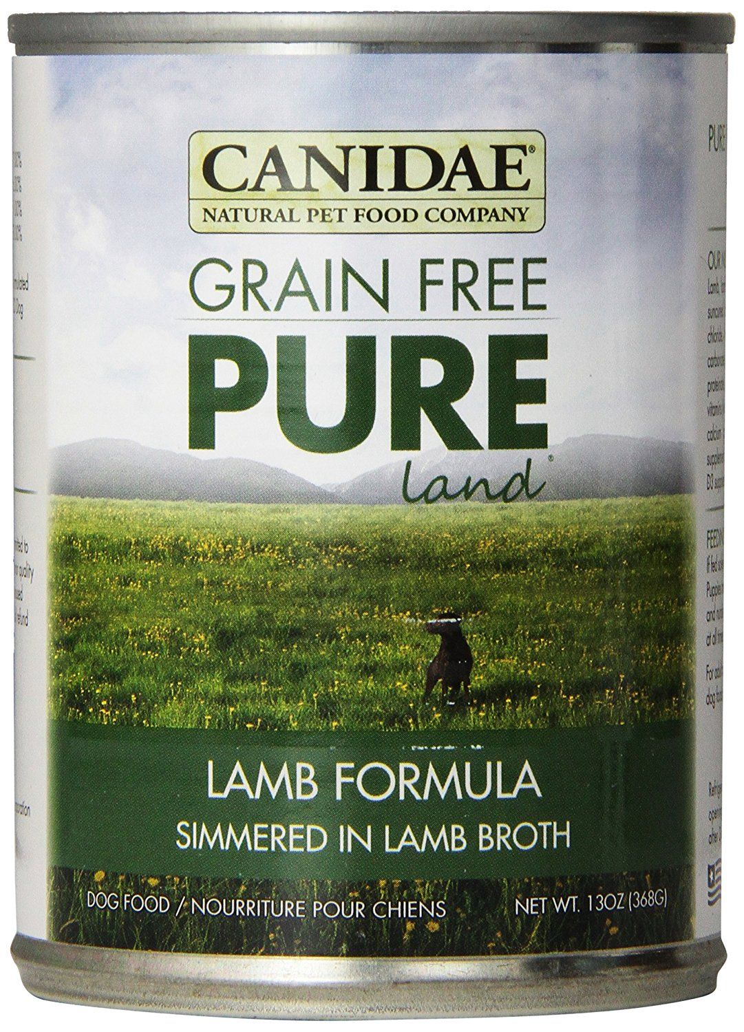 Canidae 404150 12 Pack Grain Free Pure Land Bison Lamb Food For