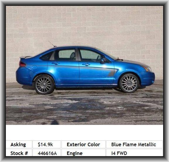 2011 Ford Focus Sport Ses Sedan Tachometer Side Airbag Short And Long Arm Rear Suspension Front Leg Room Door Reinforcement Impact Doors Rear View Mirror