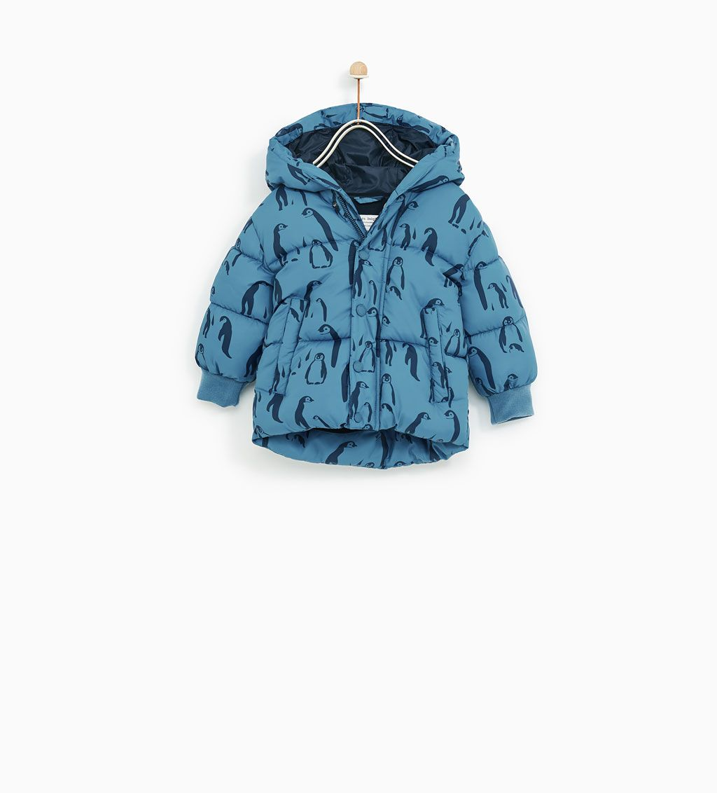 Penguins Puffer Jacket New In Baby Boy 3 Months 4 Years Kids Zara United States Down Puffer Coat Zara Zara Kids [ 1132 x 1024 Pixel ]