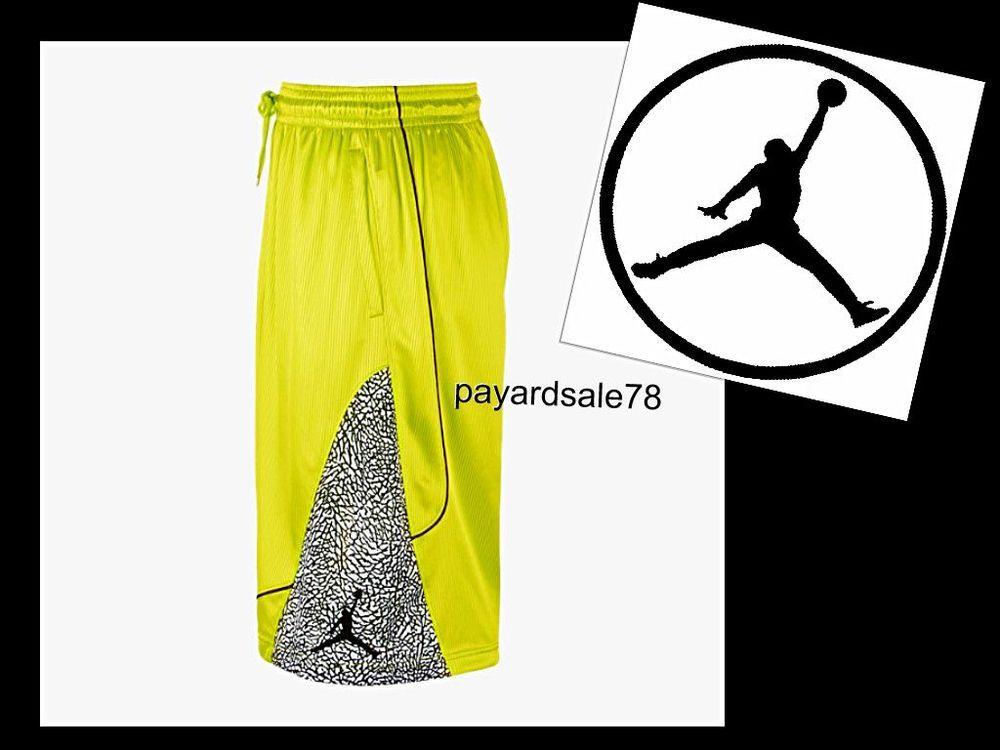 96cec00841a8c2 MEN S SIZE LARGE NIKE JORDAN FLY ELEPHANT PRINT DRI-FIT BASKETBALL SHORTS   Nike  Shorts