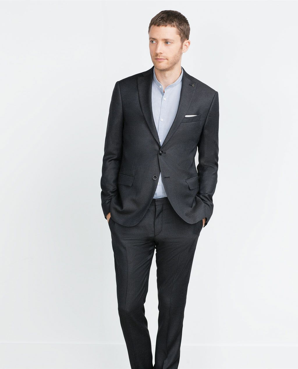 image 2 de blazer de costume bicolore de zara homme. Black Bedroom Furniture Sets. Home Design Ideas