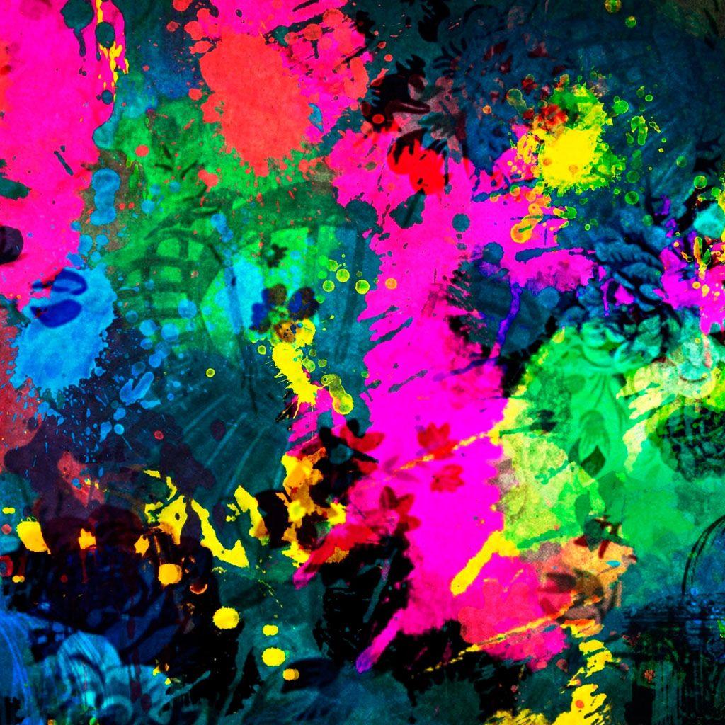 Colorful Paint Splatter #iPad #Wallpaper